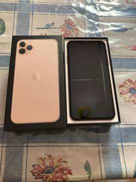 Iphone 11 pro max gold 256gb libre en caja flamante
