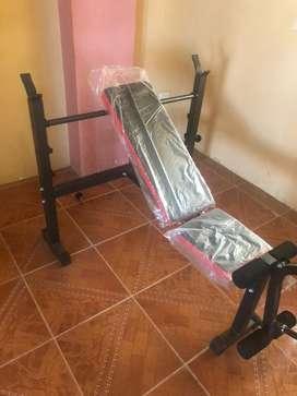 Maquina para barra con pesas