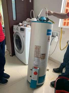 Calentador a gas capacidad 62 litros.