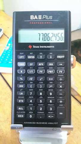 Texas instruments ba II Plus profesional calculadora financiera