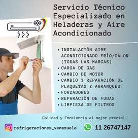 Servicio Técnico Especializado en Heladeras y Aire Acondicionado