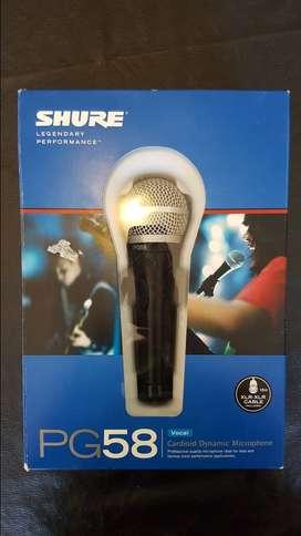 Micrófono Shure PG58 Usado Una Sola Vez!!!