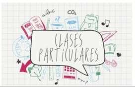 Clases partículares de Matemática, Física, Química, Inglés y Tenis.