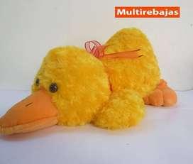 Peluche Almohada Antialergico Pato Con Lazo Rojo