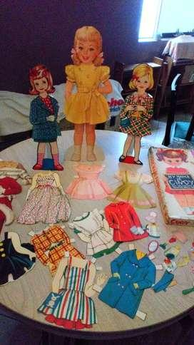 Muñecas Vintage de cartón