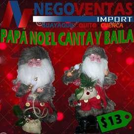 PAPA NOEL GRANDE CANTA Y BAILA DECORATIVO PARA TU HOGAR