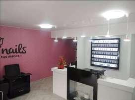 Se vende Salón de belleza y spa de uñas y barberia