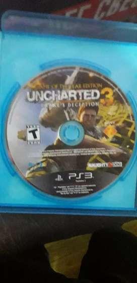 Vendo uncharted 3 de play 3 en perfecto estado a 500 pesos