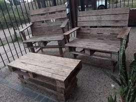 sillones rústicos para patios jardín quinchos