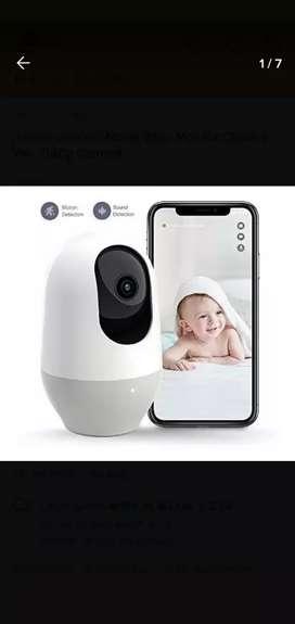 Camara de seguridad, monitor de bebé, bidireccional Full HD PTZ 360