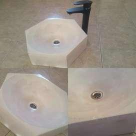 Bacha de cemento lavatorio vanitory
