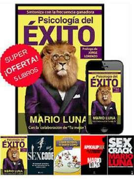 Coleccion de 5 Libros De Mario Luna  1 Audio Libro