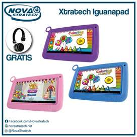 TABLET PARA NIÑOS XTRATECH ECONOMICA CON PROTECTOR Y AUDIFONOS GRATIS/ WIFI/YOUTUBE/VIDEOS/FACEBOOK