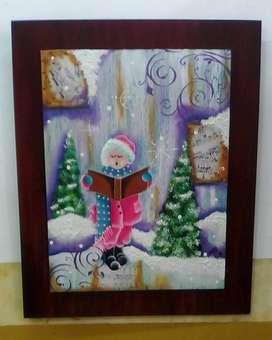 Cuadro El cantor de Navidad