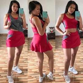 Conjuntos falda short