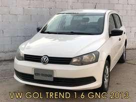 Volkswagen Gol Trend 1.6 Gnc 2013 *financio * Recibo Menor*