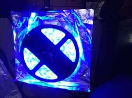 Cinta Led 3528 12v Dc 60led Luz Flexible Color Azul