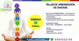 TALLER DE ARMONIZACIÓN DE CHACRAS