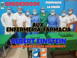 Cursos de auxiliar de enfermería o auxiliar farmacia LA UNIÓN