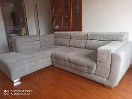 Vendo mueble sala sofá en L