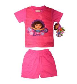 Polo y short talla 4 ropa infantil color rosado fuerte