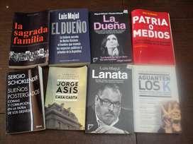 Lote de 8 libros de política, muy buen estado