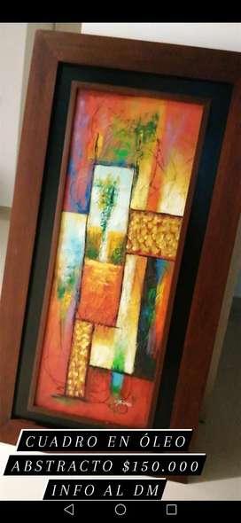 Cuadro en óleo abstracto