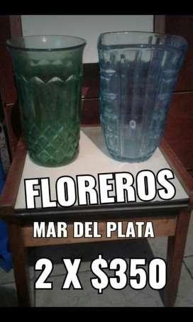 Floreros de Vidrio Gruesos