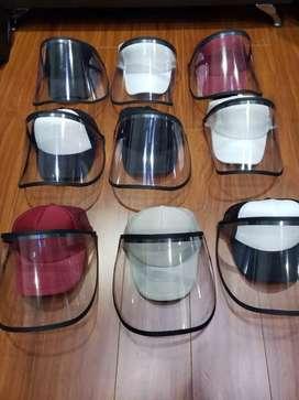 Gorras con visores faciales