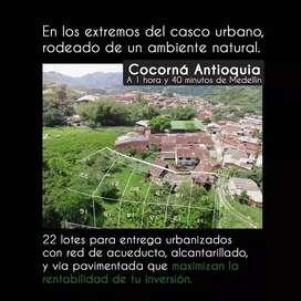22 Lotes urbanizados (sin casa) Cocorná (Ant)