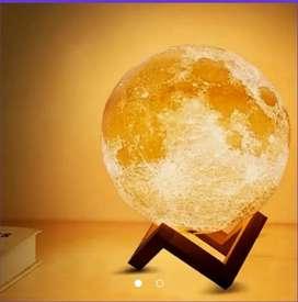 Lámpara luna 3d luces led 12 cm