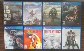 Juegos PS4 Disponibles para venta!
