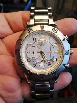 Reloj technos cronograph en acero de segunda en buen estado