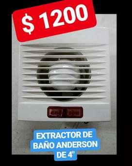 EXTRACTOR DE BAÑO ANDERSON DE 4 PULG