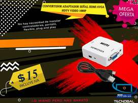 CONVERTIDOR ACTIVO HDMI A VGA PS4