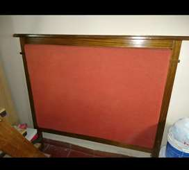 Respaldo de cama de madera y chenille, 1,60 de ancho por 1,50 de alto