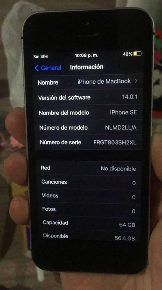 IPHONE SE IMPECABLE 64GB SPACE GRAY 0