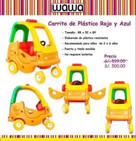 Remato carritos para niños nuevo y en caja.