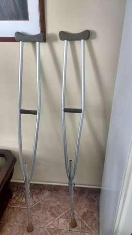 Muletas en aluminio en exelente estado