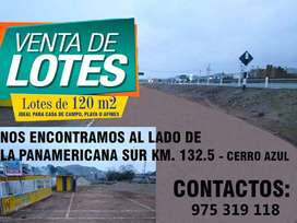 Venta de lotes  en  Cerro Azul-Cañete