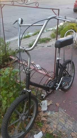 Bicicleta plegable Asiento banana reliquia llantas de aluminio