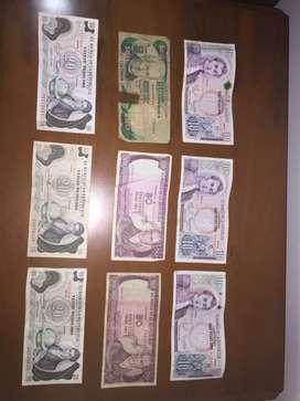 Coleccion De Billetes Antiguos De Colombia Originales