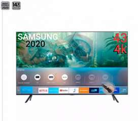 TELEVISOR DE 43P SAMSUNG SMART AÑO 2020 BLUETOOTH WIFI TDT2 YOUTUBE NETFLIX AMAZON GOOGLE MANDOS DE VOZ NUEVO ALTA GAMA
