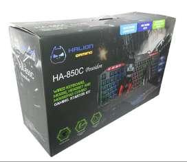Kit Gamers Led Poseidon Ha-850c teclado,audifono,mouse,pad