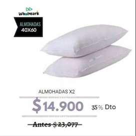 Set X 2 De Almohadas Para Hotel Económica 0.40 X 0.60