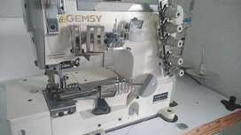 Maquinas de coser plana y collarín