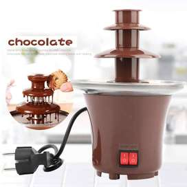 Mini Fuente de Chocolate en Acero Inoxidable, disponible para entrega Inmediata