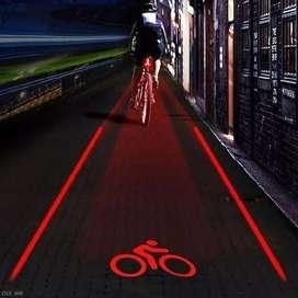 Luces láser de seguridad para bicicletas