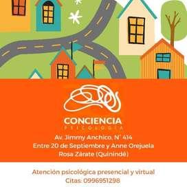 Atención psicológica presencial y virtual