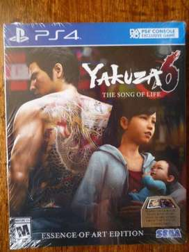 PLAYSTATION 4 PS4 YAKUZA 6 THE SONG OF LIFE ESSENCE OF ART EDITION NUEVO